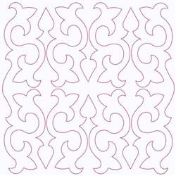 Fleur De Lis Square embroidery design