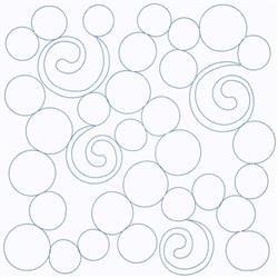 Swirly Circles embroidery design