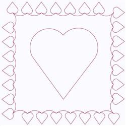 Heart Square embroidery design