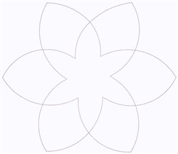 Abstract Flower Outline embroidery design