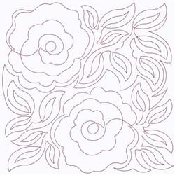 Rose Square embroidery design