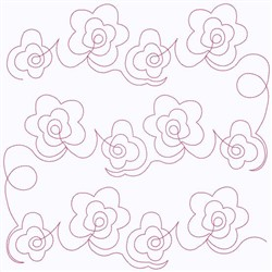 String Of Flowers embroidery design