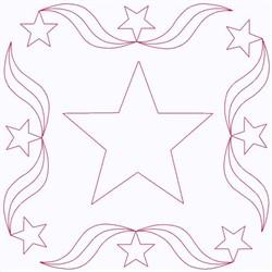 Star Square embroidery design