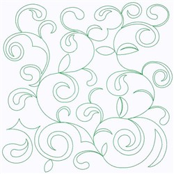 Curly Leaves embroidery design
