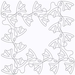 Duck Prints embroidery design