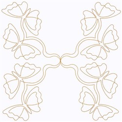 String Of Butterflies embroidery design