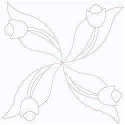 Tulip Outline embroidery design