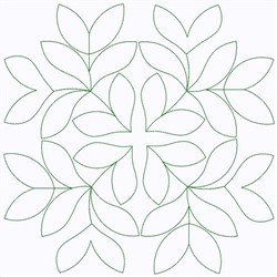 Outline Of Leaves embroidery design