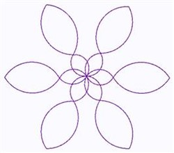 Pinwheel Outline embroidery design