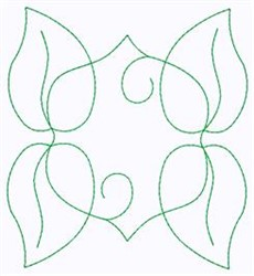 Leaf Swirl Outline embroidery design