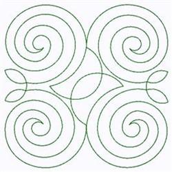 Spiral Swirl embroidery design