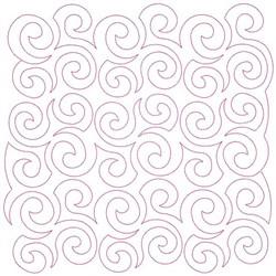 Curliques Block Continuous Stitch embroidery design