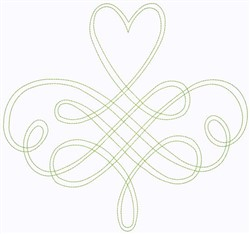 Scroll Continuous Stitch embroidery design