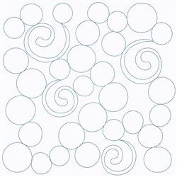 Circle Block Continuous Stitch embroidery design