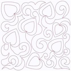 Hearts Block Continuous Stitch embroidery design