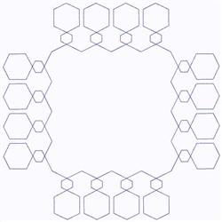 Geometric Block Continuous Stitch embroidery design