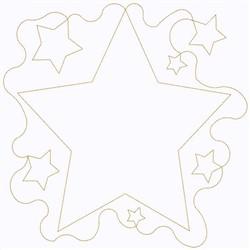Stars Block Continuous Stitch embroidery design
