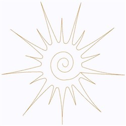 Sunburst Continuous Stitch embroidery design