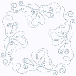 Butterflies Block embroidery design