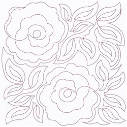 Roses Block embroidery design