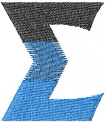 Small Toga Sigma embroidery design