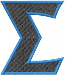 Toga Sigma embroidery design