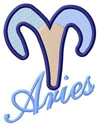 Aries Zodiac embroidery design