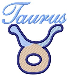Taurus Zodiac embroidery design