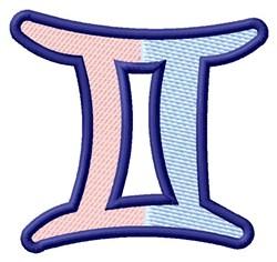 Gemini Zodiac Sign embroidery design