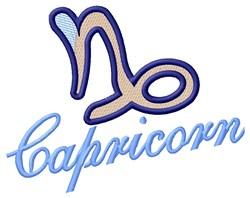 Capricorn Zodiac embroidery design