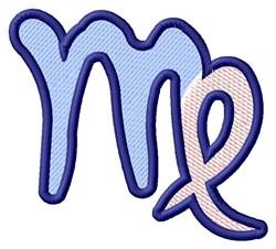 Virgo Zodiac Sign embroidery design