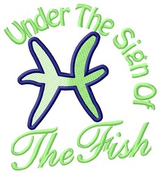 The Sign Of The Fish embroidery design