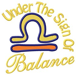 The Sign Of Balance embroidery design