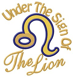 The Sign Of The Lion embroidery design