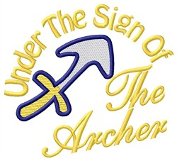 The Sign Of The Archer embroidery design