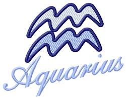 Aquarius Zodiac embroidery design