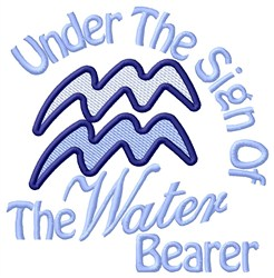 Sign Of The Water Bearer embroidery design