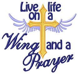 Wing and a Prayer embroidery design
