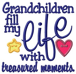 Treasured Grandchildren embroidery design