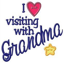Visiting With Grandma embroidery design