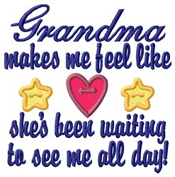 Grandma Been Waiting embroidery design