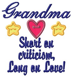 Grandma Love embroidery design