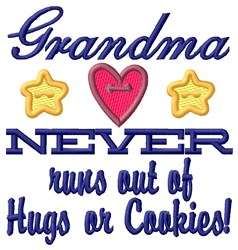 Grandma Hugs embroidery design