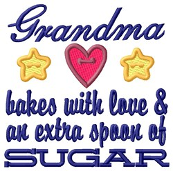 Grandma  Extra Sugar embroidery design