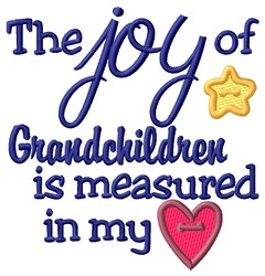Joy Of Grandchildren embroidery design