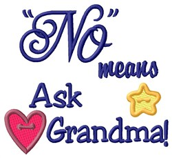 Ask Grandma embroidery design