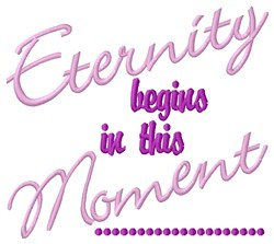 Eternity Begins embroidery design