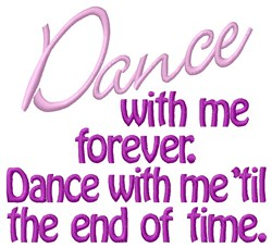 Dance With Me embroidery design