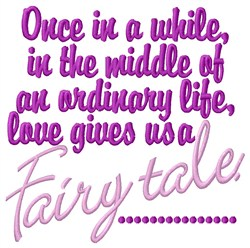 A Fairy Tale embroidery design