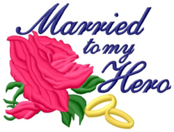 Married To My Hero embroidery design